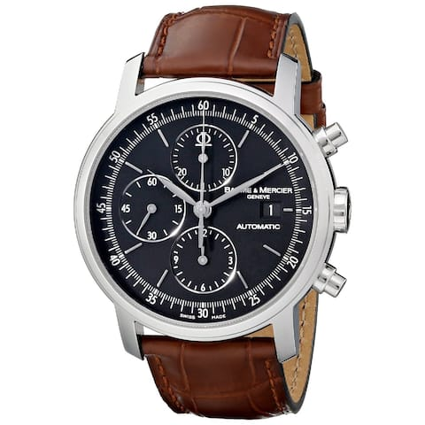 Baume & Mercier Men's MOA08589 'Classima Executives' Chronograph Automatic Brown Leather Watch