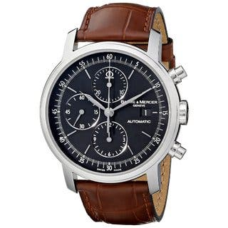 Baume & Mercier Men's MOA08589 Classima Executive Brown Leather Watch|https://ak1.ostkcdn.com/images/products/9934089/P17089804.jpg?impolicy=medium