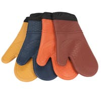 2-pack Silicone Quilted Oven Mitts