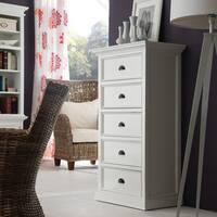 NovaSolo White Mahogany 5-drawer Chest