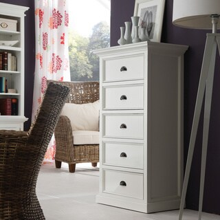 NovaSolo White Mahogany 5-drawer Chest
