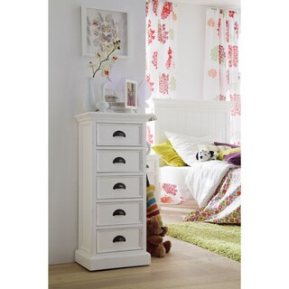 NovaSolo White Mahogany 5-drawer Storage Unit
