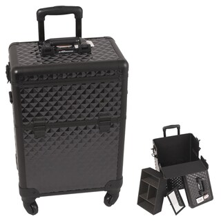 Sunrise Black Interchangeable Diamond Pattern Rolling Makeup Case