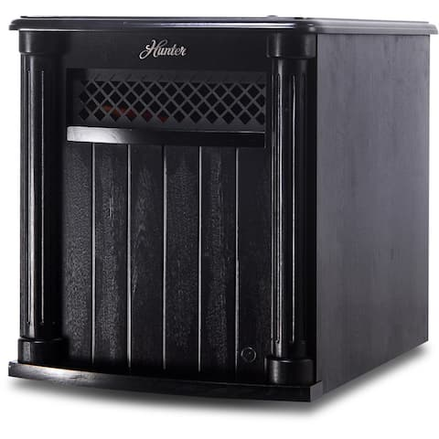 Hunter 1500-watt 6-quartz Element Infrared Wood Cabinet Heater with Remote Control