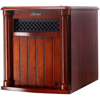 Hunter 1500-watt 6-quartz Element Infrared Wood Cabinet Heater with Remote Control