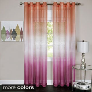 Rainbow Ombre Grommet Top Curtain Panel