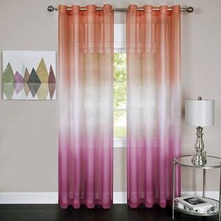 Rainbow Ombre Grommet Top Curtain Panel