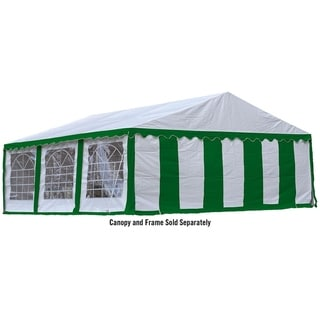 ShelterLogic 20' x 20' Green and White Party Tent Enclosure Kit with Windows (Frame and cover sold separately)