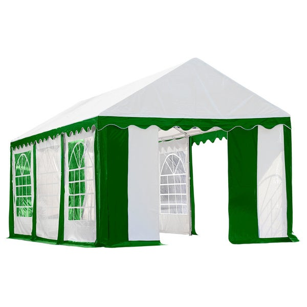 Shop ShelterLogic 20' x 20' Green and White Party Tent