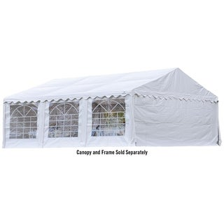 ShelterLogic 20' x 20' White Party Tent Enclosure Kit with Windows (Frame and cover sold separately)