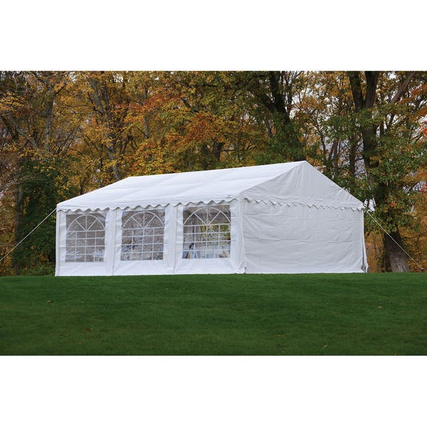 Shop ShelterLogic 20' x 20' White Party Tent Enclosure Kit with