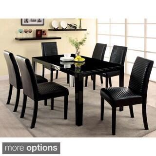 Furniture of America Rosanna 7-piece Modern High Gloss Dining Set