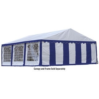 ShelterLogic 20' x 20' Blue and White Party Tent Enclosure Kit with Windows (Frame and cover sold separately)