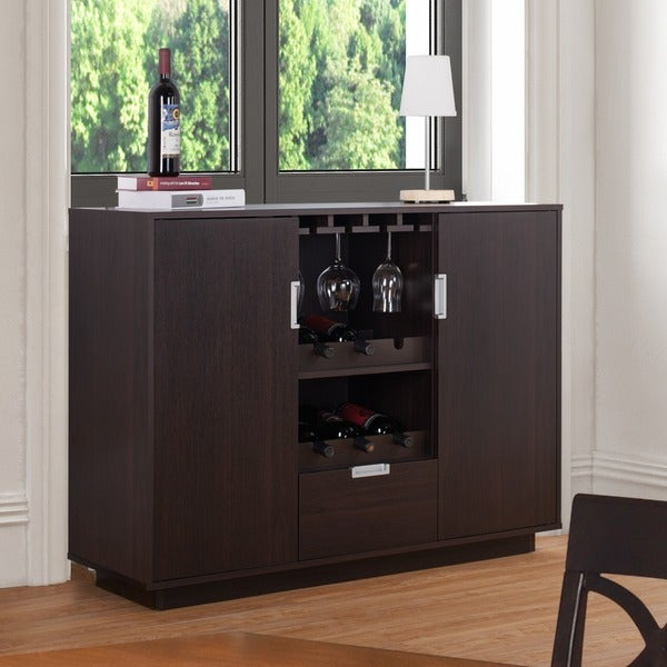 Furniture of america sivira modern espresso multi storage for Furniture of america alton modern multi storage buffet espresso
