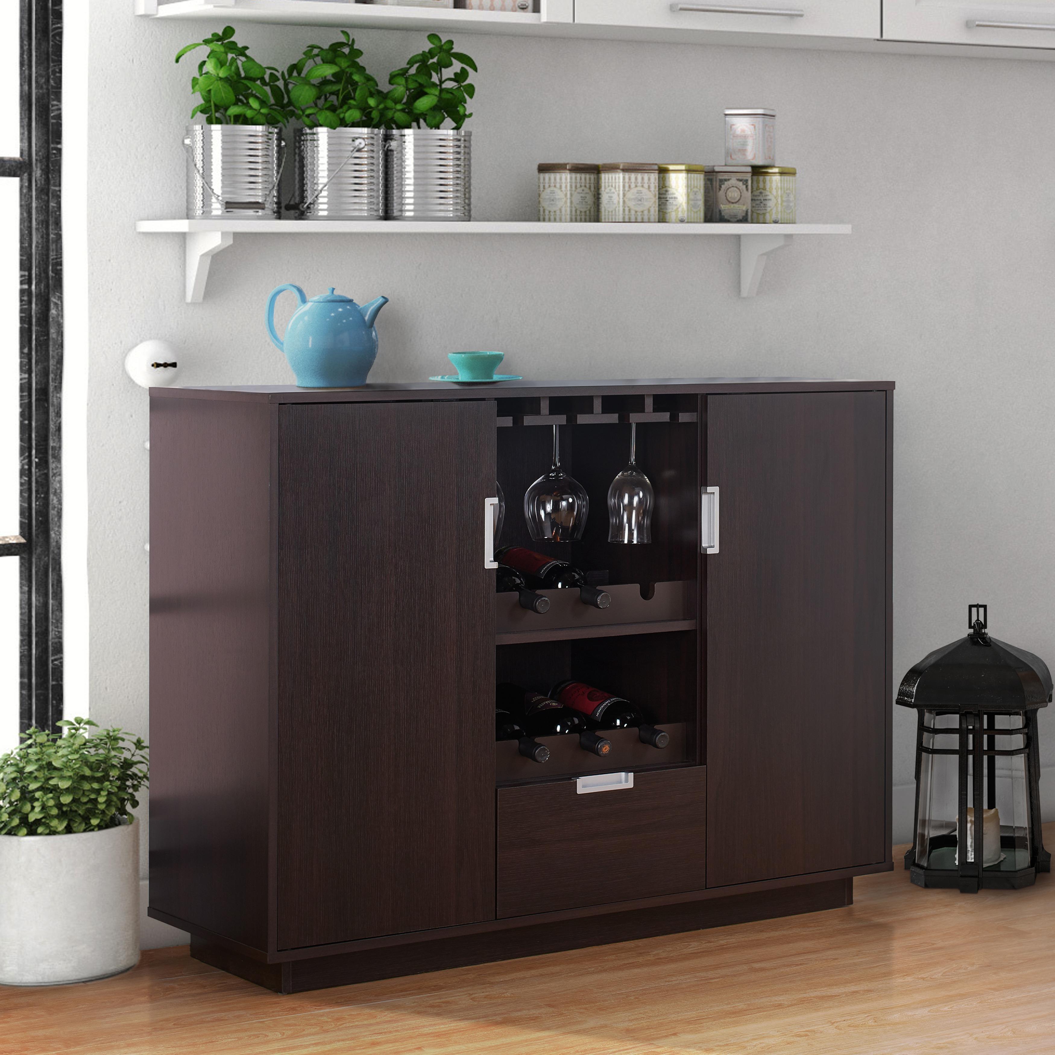 Furniture of America Sivira Modern Espresso Multi-Storage...