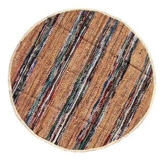 Tan Broadway Collection Rug (4.9' Round)