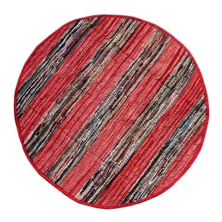 Red Broadway Collection Rug (4.9' Round)