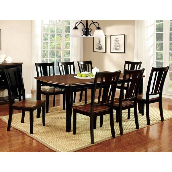 Furniture of America Betsy Jane 9-Piece Country Style Dining Set ...
