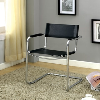 Furniture of America Peters Black Visitor Chair (Set of 4)