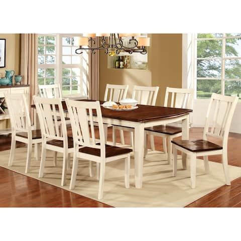 Furniture of America Betsy Jane Country 78-inch Expandable Dining Table