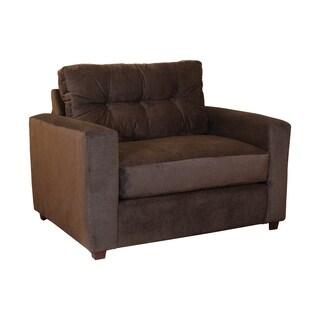 Somette Katie Charcoal Grey Fabric SturdySwift Chair