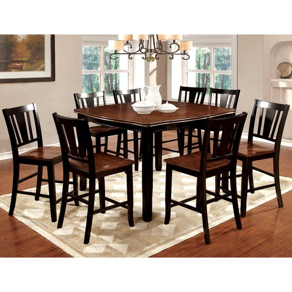Furniture Of America Betsy Jane 9 Piece Country Style Counter Height Dining  Set