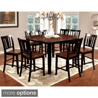 Furniture of America Betsy Jane 9-Piece Country Style Counter Height Dining Set
