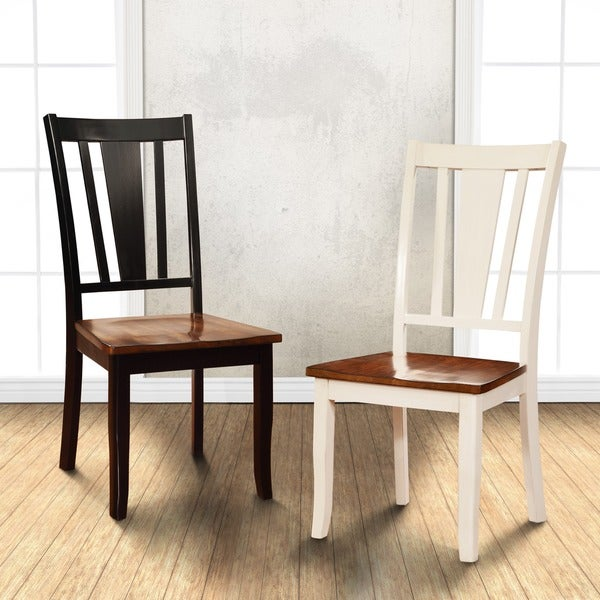 Furniture Of America Betsy Jane Country Style 2 Tone Dining Chair (Set Of 2