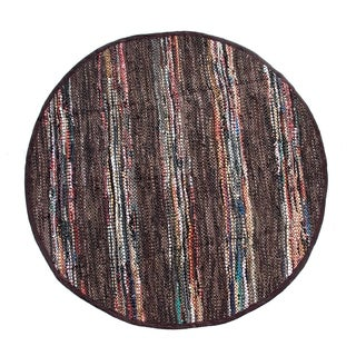Chocolate Broadway Collection Rug (4.9' Round)