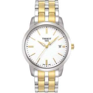 Tissot Men's T0334102201101 Classic Dream Round Two-tone Bracelet Watch