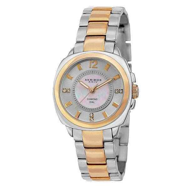 Akribos XXIV Women's Swiss Quartz Stainless Steel Two-Tone Bracelet Watch