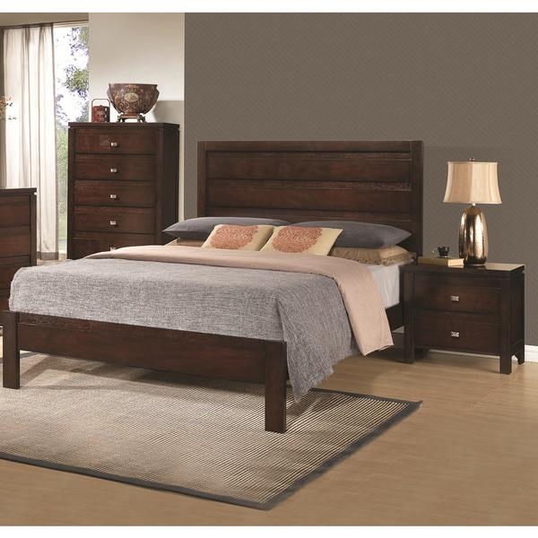 Camarillo Collection 3-piece Rich Brown Solid Wood Bedroom Set