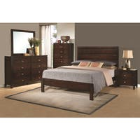 Camarillo Collection 5-piece Rich Brown Solid Wood Bedroom Set