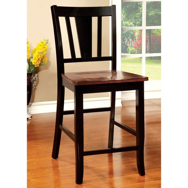 furniture of america betsy jane country style 2tone counter height dining chair set