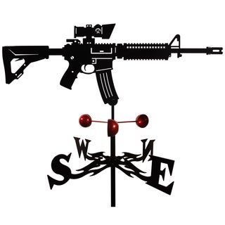 Handmade M4 Carbine Assault Rifle Steel Weathervane