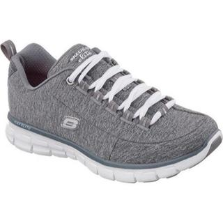 Sketcher All Leather White Tennis Shoes