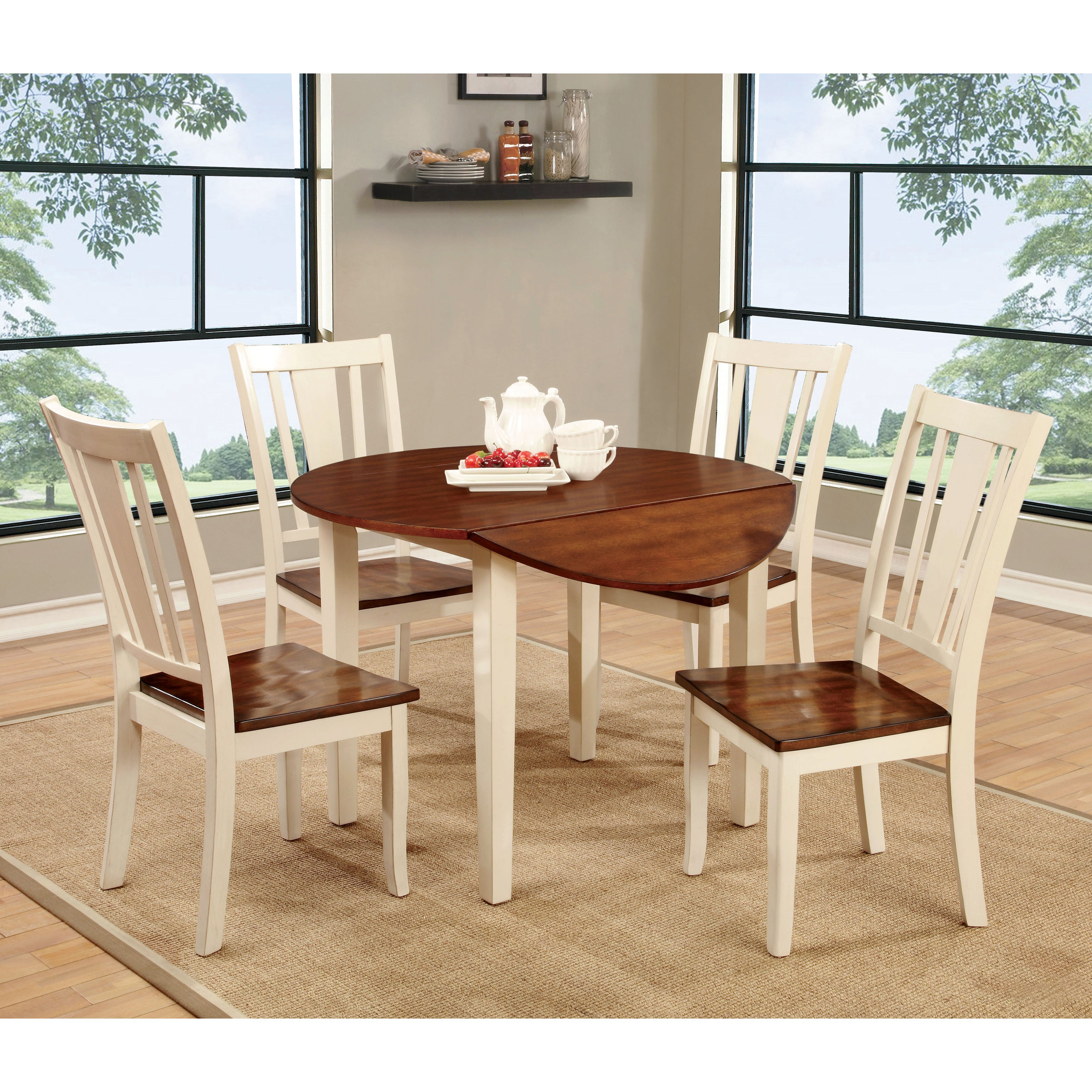 Furniture of America Betsy Jane 5-Piece Country Style Rou...