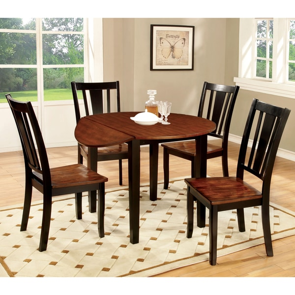 Country Style Dining Set: Furniture Of America Betsy Jane 5-Piece Country Style
