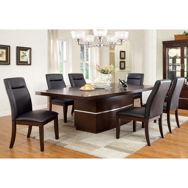 Dining Room Set On Sale: Shop Lyzandrie Contemporary Dark Cherry 7-piece Dining Set