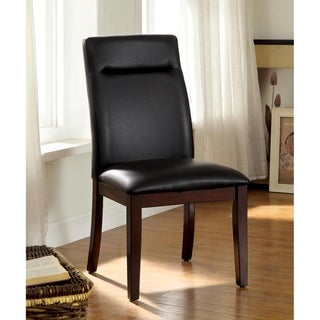 Furniture of America Lyzandrie Contemporary Leatherette Side Chair (Set of 2)