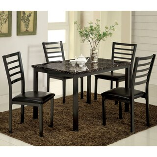 Furniture of America Rath Contemporary Black 5-piece Dining Set