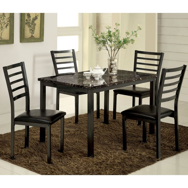 Cheap Dinette Sets Free Shipping: Shop Furniture Of America Hartley 5-Piece Black Dining Set