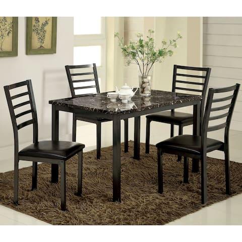 Hartley Contemporary Black 5-Piece Dining Set by FOA