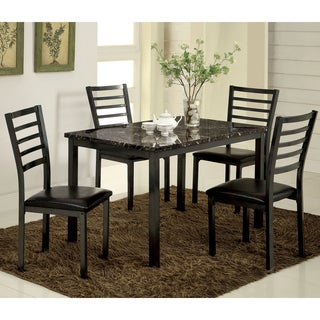 Furniture of America Hartley 5-Piece Black Dining Set