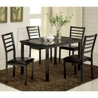 Furniture of America Hartley 5-Piece Black Dining Set