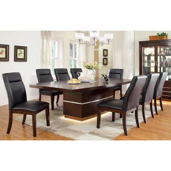 furniture of america lyzandrie contemporary 9 piece dining set free