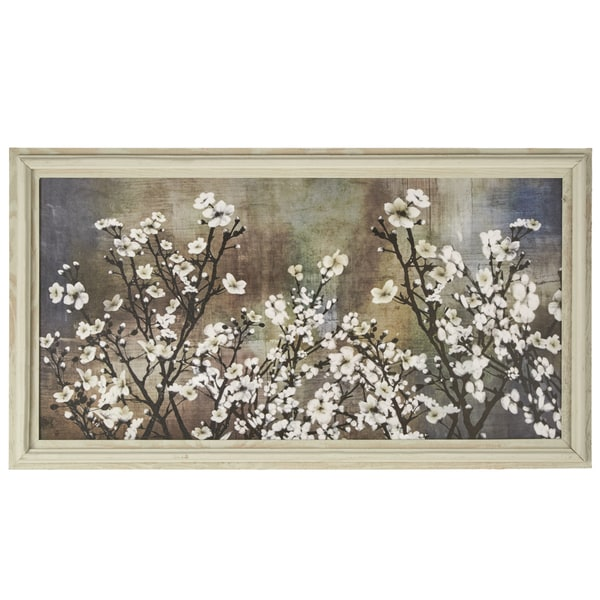 Cherry Blossom 39 Wrapped Giclee Canvas Framed Wall Art Free Shipping