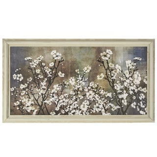 'Cherry Blossom' Wrapped Giclee Canvas Framed Wall Art