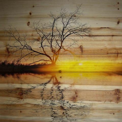 Parvez Taj 'Killaloe' Painting Print on Natural Pine Wood