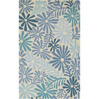 Hand-hooked Lana Floral Area Rug